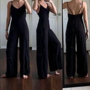 Urban Outfitters ecoté black wide leg jumpsuit